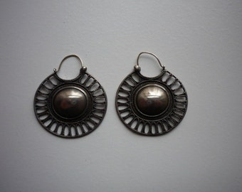Vintage MMA Metropolitan of Art Tribal 925 Sterling Silver Earrings