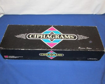 CIPHAGRAMS WORD GAME 1988  Rare Board Game