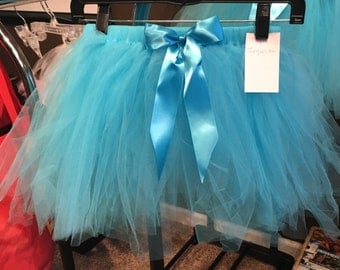 CLEARANCE ~ 7 Year Turqoise Children's Tutu with Bow