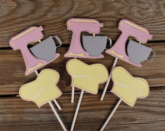 Baking Cupcake Toppers, Chef Cupcake Toppers