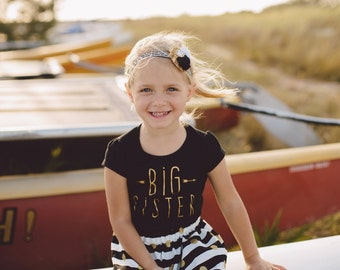 "Girls ""big sis"" outfit,  handmade clothing by willowbeeapparel"
