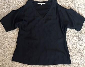 Black cold shoulder top size M