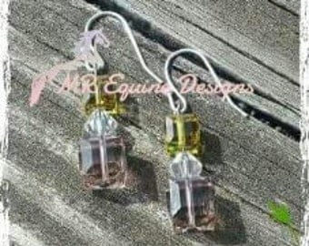 CLEARANCE - Beaded Pink & Yellow Earrings