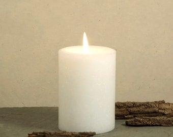 "White Pillar Candle - 3x4"" - Home Decor"
