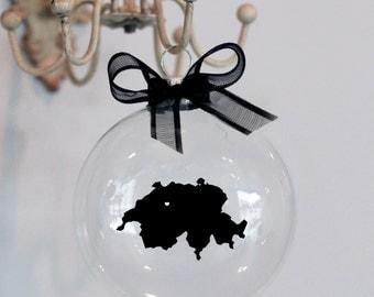 Switzerland Christmas Ornament, Custom, Travel, Mission, Adoption