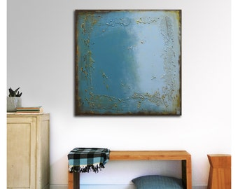 Painting, Abstract Art, Canvas Wall art, Once Turquoise 332, On canvas, Original Art, Landscape Art, Abstract Painting, Modern Art