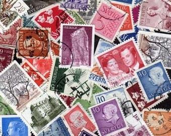 50 Diff Sweden Stamps, Stamps, Sverige, Postage stamps, Swedish, Swedish Stamps, Scandanavia Postage Stamps,  Sweden postage stamps