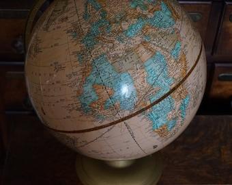 FREE SHIPPING, Vintage, Cram's Imperial World Globe