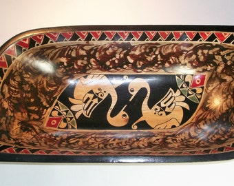 Hand Carved Wooden Bowl from Indonesia