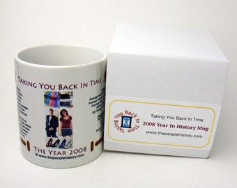 2008 Year In History Coffee Mug