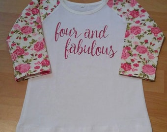 Floral Raglan - age shirts