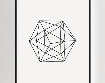 Geometric Wall Art, Modern Prints, Contemporary Art, Modern Wall Decor, Wall Prints, Printed Art, Geometric Prints, Minimalist Decor