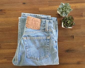 Early 80s high waist vintage levi 501 Pin Striped Waist 24