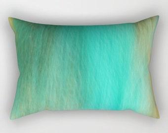 Rectangular Pillow - Fantasy Ocean 2 - Small Medium Large XLarge - photography blue abstract sea ocean
