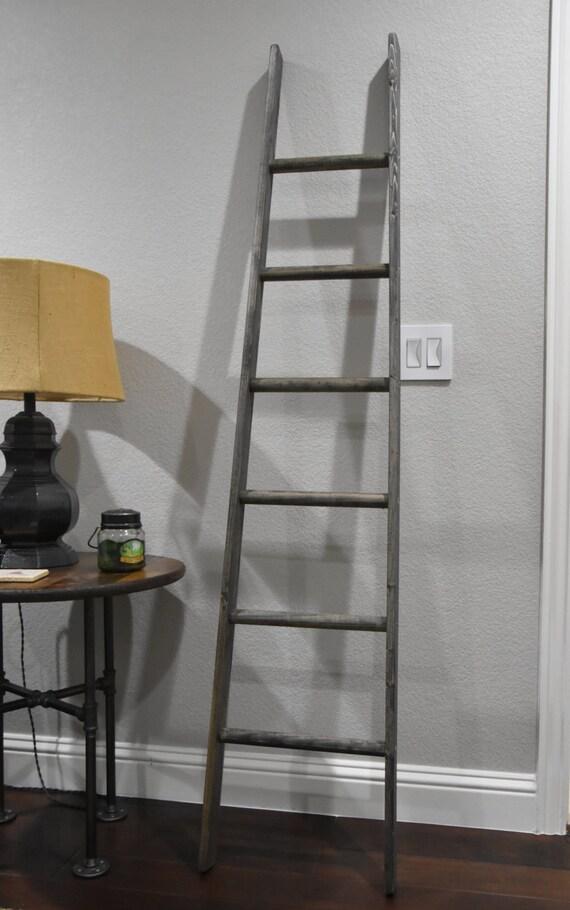 6 Tapered Ladder Vintage Rustic Blanket Ladder Quilt