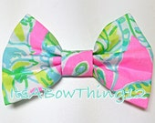 Lilly Pulitzer Coconut Jungle Spring Preppy Printed Fabric Bow