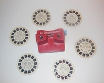 Vintage GAF View-Master Reel Toy With Six  Reels Lot
