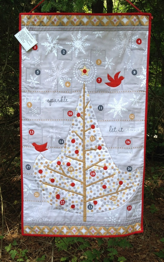 Modern Advent Calendar Wallhanging Christmas Countdown