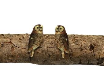 Owl earrings,  owl posts, owl studs, owl jewellery, owl, owls, wise owl, woodland animal