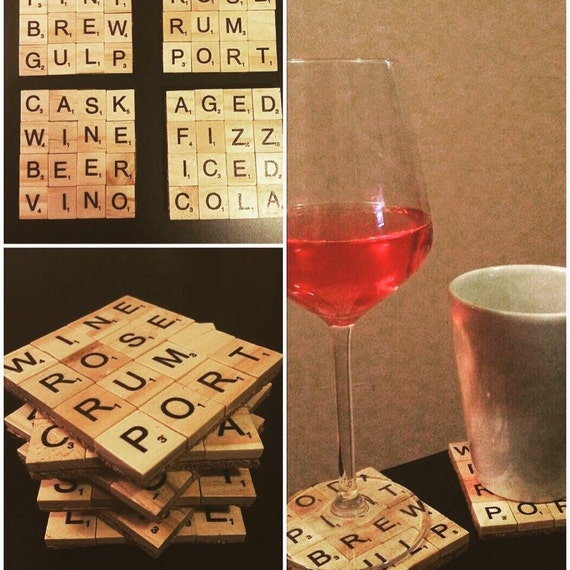 Scrabble Coasters Handmade Made To Order