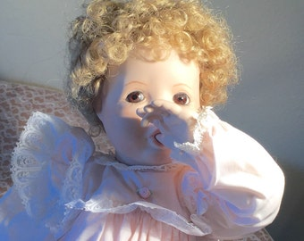 Large Vintage Porcelain Doll