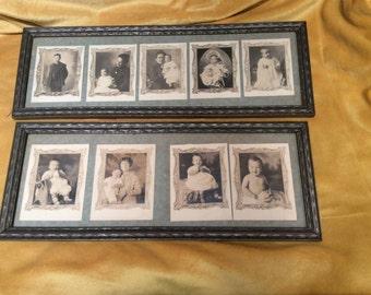 VINTAGE FAMILY PHOTOS - Original frames and notes