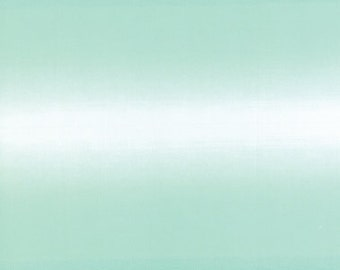 1/2 Yard - Teal Blue Ombre Fabric by V and Co - 10800 31
