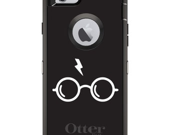 Custom OtterBox Defender Case for Apple iPhone 6 6S 7 8 PLUS X 10 - Personalized Monogram - Potter-inspired Glasses