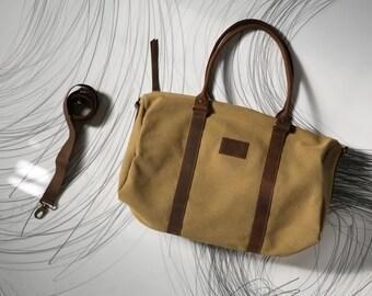 Weekender bag men, Weekend bag, Duffle bag canvas, Duffle bag women, Travel bag, Gym bag, Overnight bag, Flight bag