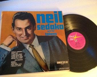 Neil Sedaka ( and the tokens ) LP - Vintage Vinyl Record Doo Wop