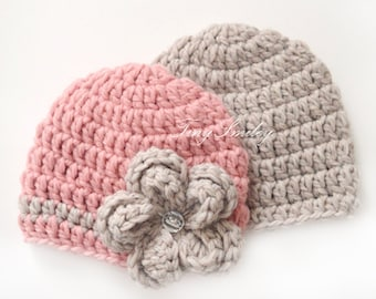 Twin Baby Hats, Wool Twin Hats, Newborn Twin Hats, Baby Hats for Twins, Crochet Twin Hats, Crochet Twin Outfits, Hospital Twin Hats, Twins
