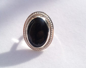 Sterling Silver and Blue Goldstone