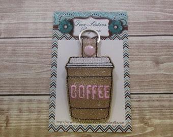 Coffee Keychain, Latte Keychain, Coffee Key Fob