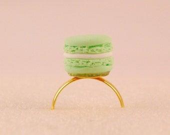 macaron ring - macaroon ring-food jewelry