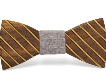 "Wood Bow tie ""Marion"""