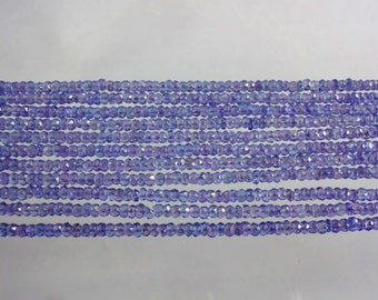 14-inch Tanzanite AAAA quality micro faceted rondelle beads size 3mm GW1649
