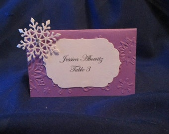 Lacy Snowflake Place Cards