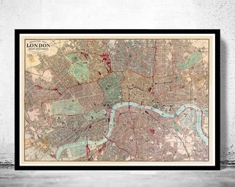 Old Map of London Map 1880