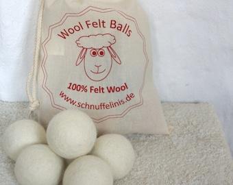 Wool dryer balls, Dryer Balls for Softening Laundry- 100% Natural Laundry Softener, Eco, Eco pure felt wool handmade