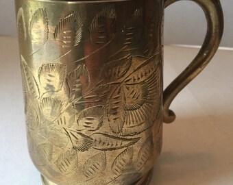 Brass Ornate Mug