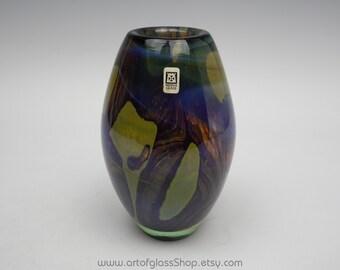 Mdina 'Earthtones' glass vase