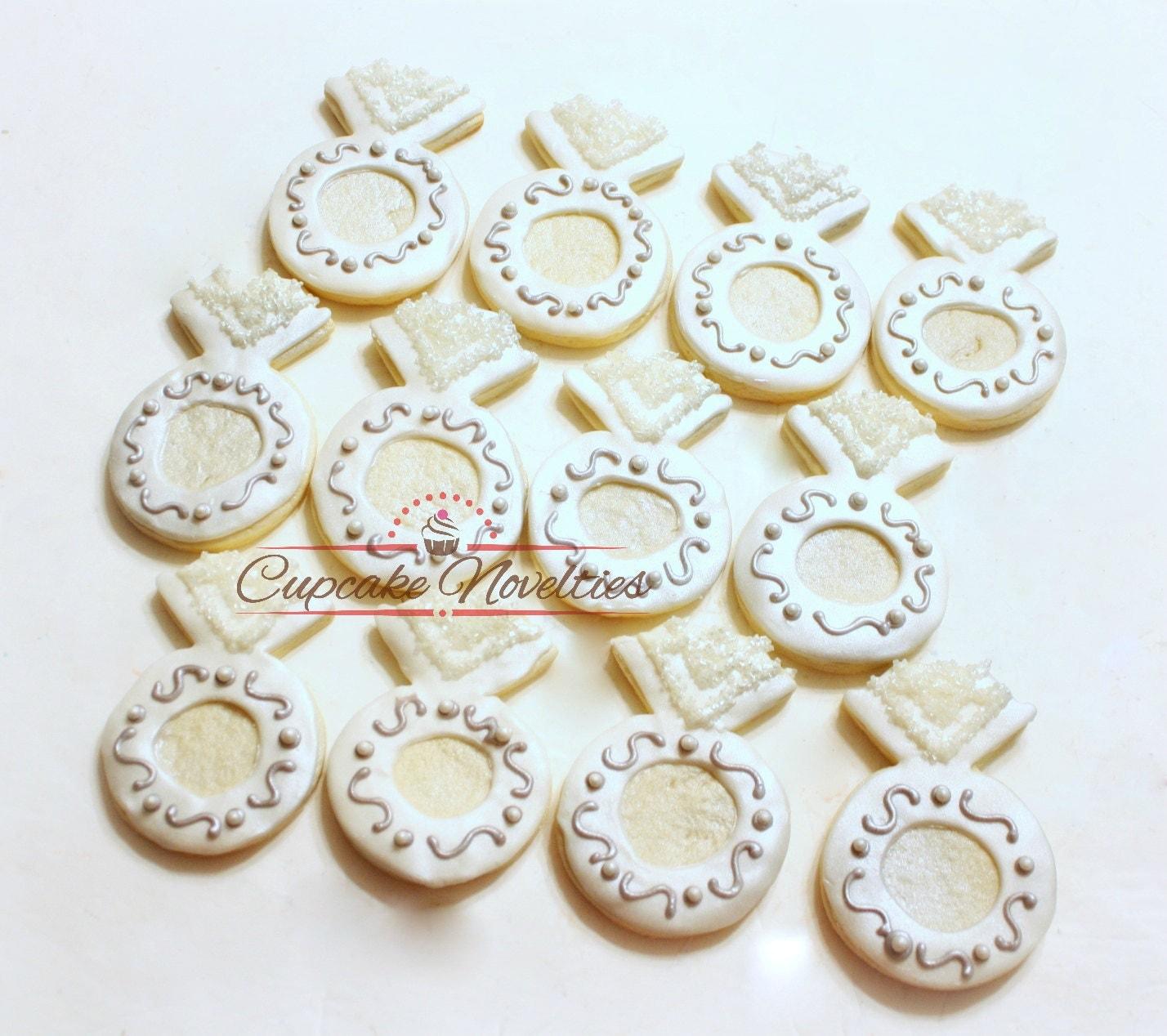 engagement ring cookies wedding cookies wedding favors bridal