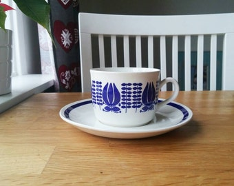 Egersund Norway retro Tea cup and saucer set