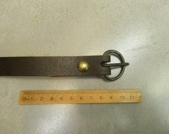 multi period steel belt buckle and soldered  brass split rivet marzinzik's type 1.10a-ii
