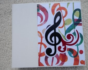 6 x 6  Colorful Music Scrapbook Album