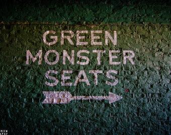 Boston Red Sox Photography / Massachusetts Photography / Wall Art / Baseball Home Decor / Green Monster Seats; Fenway Park, Boston