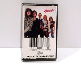 Heart Vintage Cassette Tape Band 1980 Greatest Hits Live Concert Ann Nancy Wilson 18 Songs Barracuda Crazy On You Dreamboat Annie Magic Man