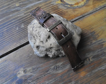 Watch strap, leather watch strap, watch band, leather watch band, watch straps, vintage strap, rustic strap, panerai strap, men's strap,14