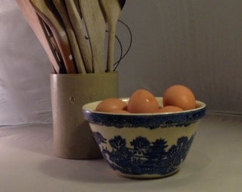 Blue And White Castleford Bowl by Clokie & Co Ltd c1945