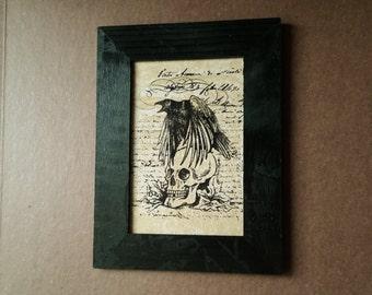 Raven & Skull Wall Art